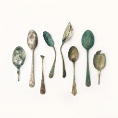 Teaspoons, 19th-20th century, all found on beaches