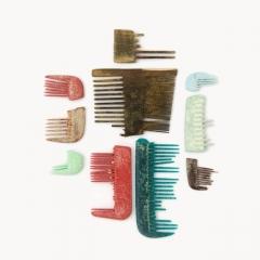 Combs: bone & plastic, 17th-21st century