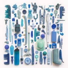 Blue plastic found on Cornish beaches