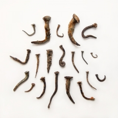 Hand-forged nails,  c. 16-18th century