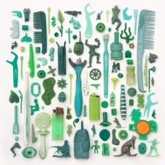 Green plastic found on Cornish beaches