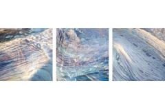 Purple Slate, triptych