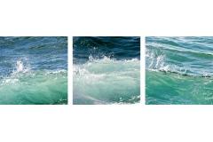 Three Turquoise Waves